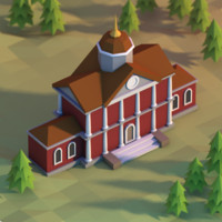 3d classical school townhall