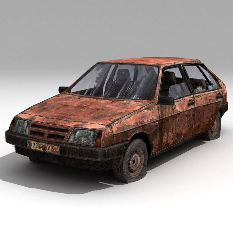 russian car vaz-2109 3d max