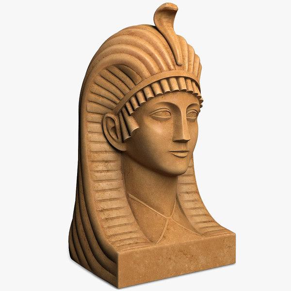 egyptian bust 3d obj