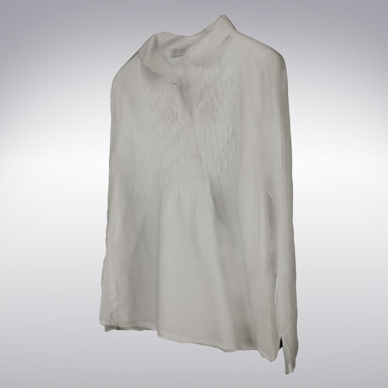 women s long sleeve 3d model