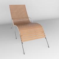 deck chair 3d max