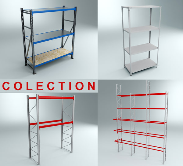 3d model of shelving