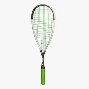 oliver squash racket 3d obj