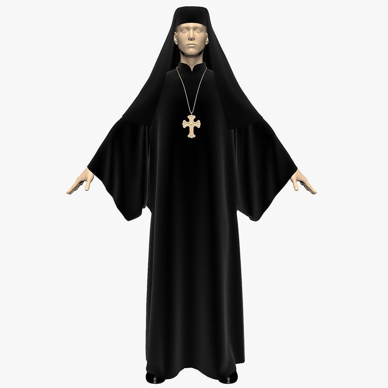 3d model dress priest