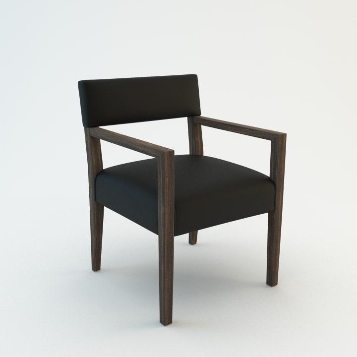 3d ecart chair model