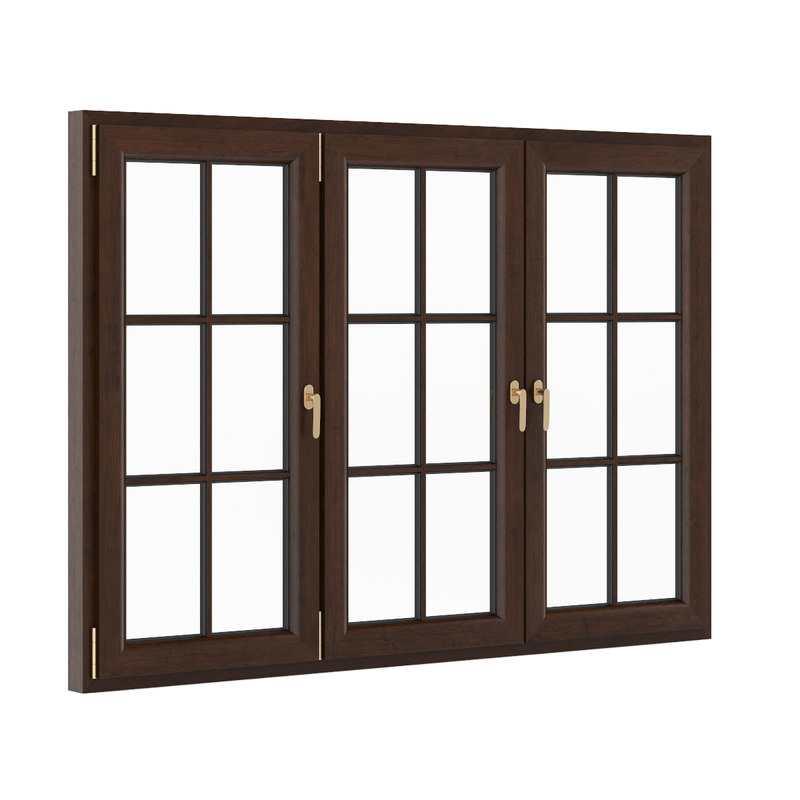 3d model openable wooden window 2270mm for Window 3d model