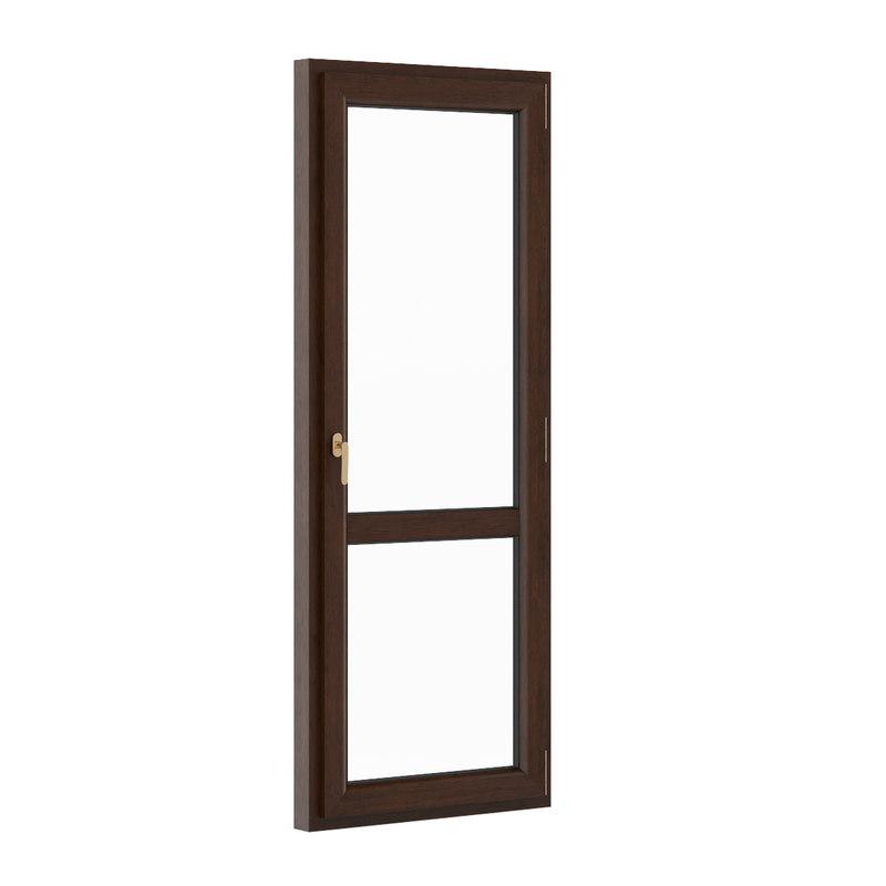 3d model wooden window 900mm x