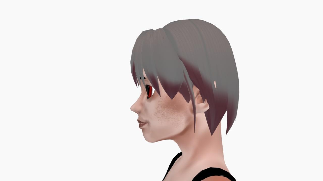 woman template 3d model