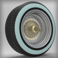 lowrider wheel 3d model