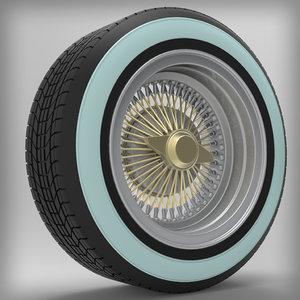 lowrider wheel 3d model