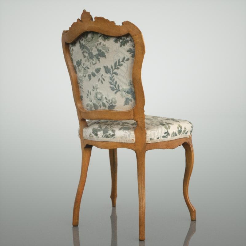 obj flower design chair