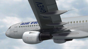 3d model 320 air france