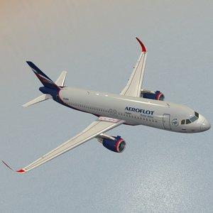 sharkleted a320neo aeroflot 3ds