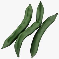 green beans 2 3d model