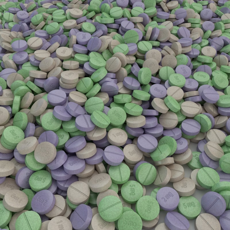 tablets medicine 3d obj