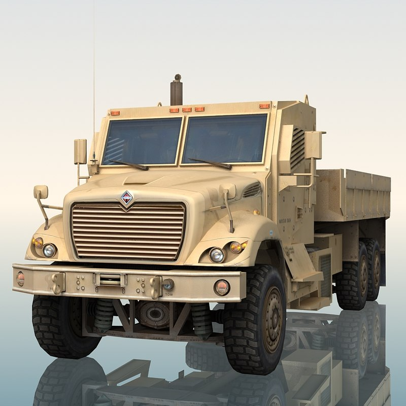 3ds max navistar 7000 mv military truck