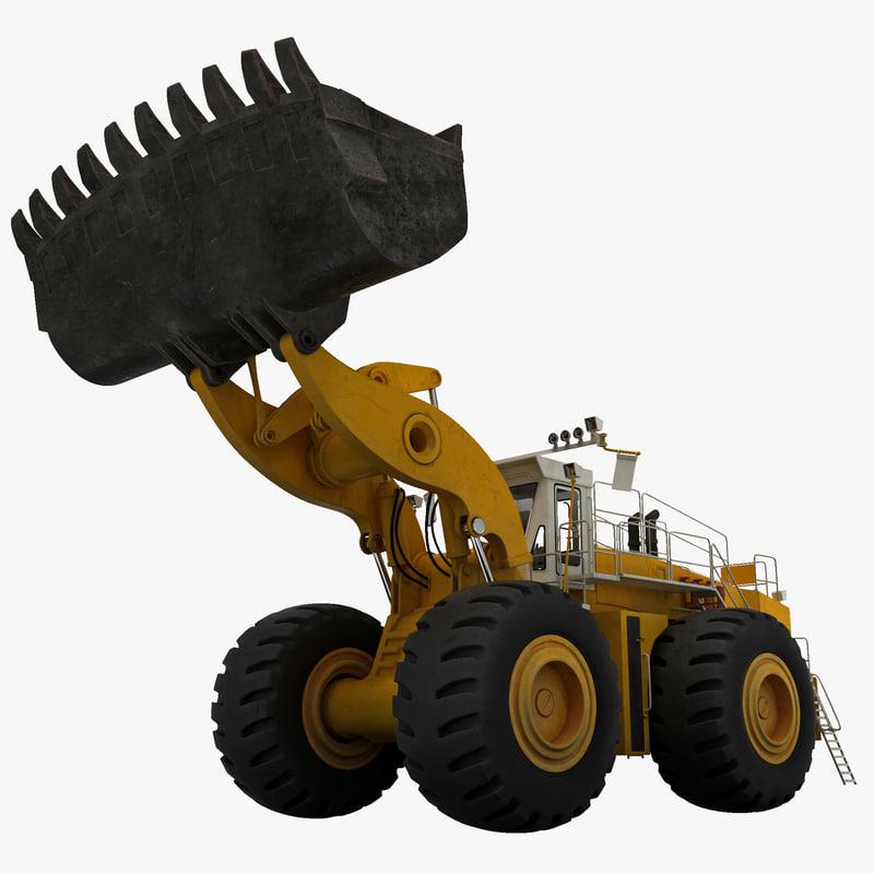 3ds max mining wheel loader letourneau