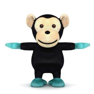 monkey toy 3d model