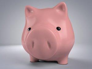 piggy bank 3d c4d