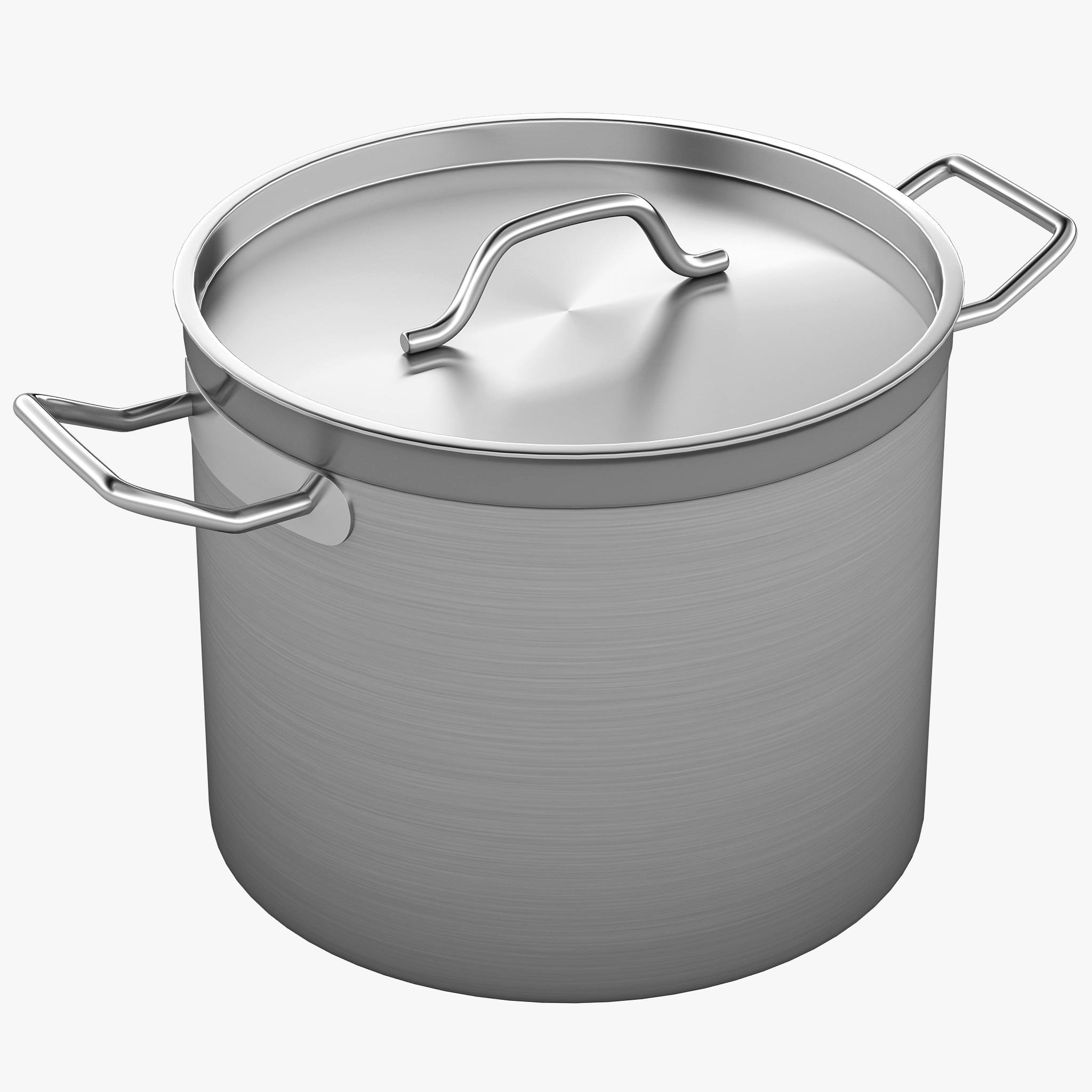 3d professional stainless steel pot model