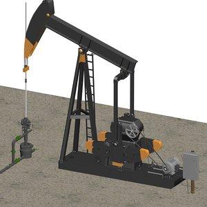 pumping unit 3d max