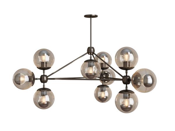 3d model roll hill modo chandelier