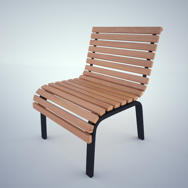 small bench 3d max