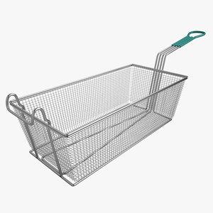 3d model square fry basket