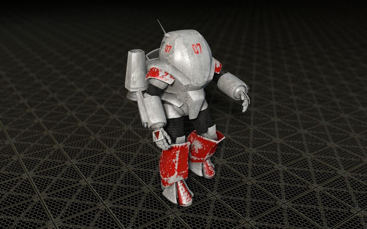 cinema4d powered armor suit
