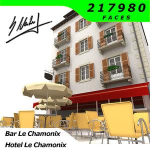 house hotel le chamonix 3d 3ds