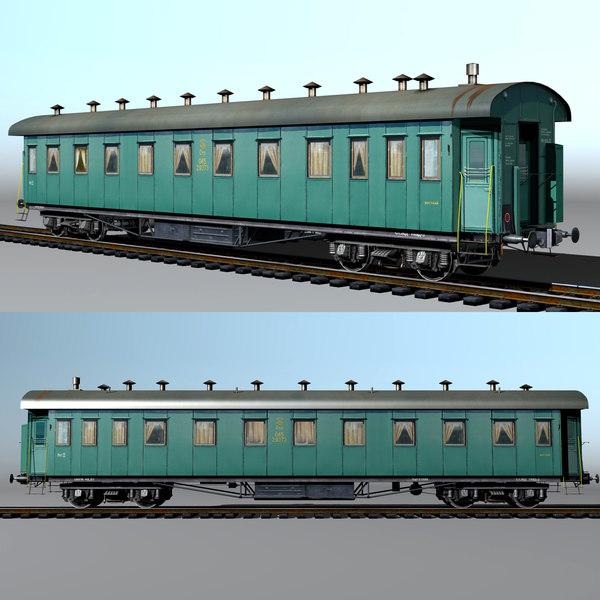 3d passenger vagon type 20 model