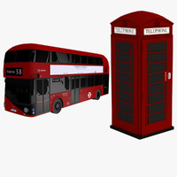 3d model nb4l phone booth