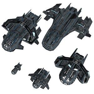 3d model astra starship pack 1