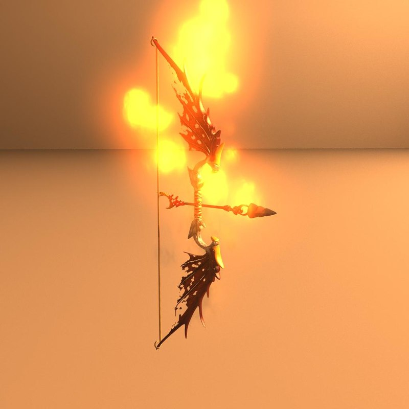 3d fantasy dragon bow model