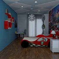 kids room realistic