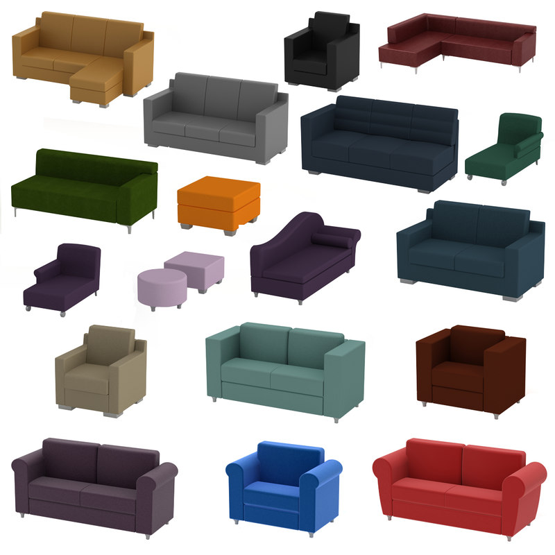 3d sofa furniture couch model