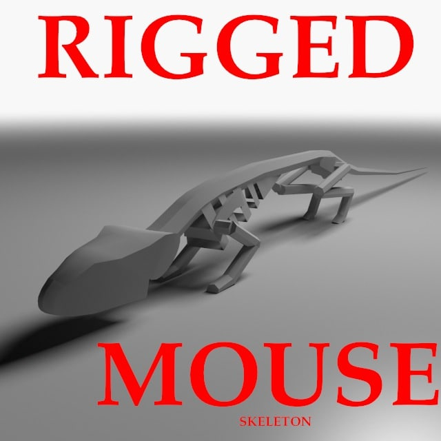 maya rigged mouse