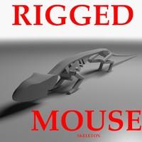 maya rigged mouse