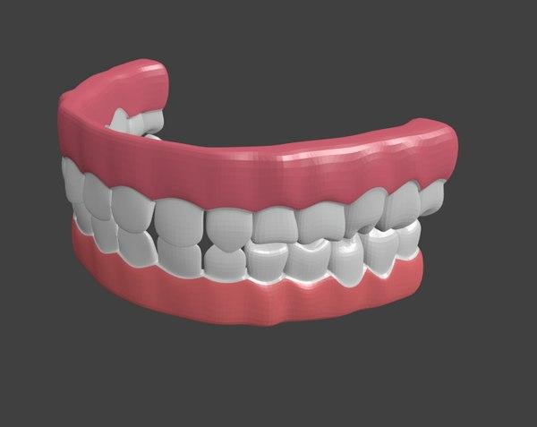 human teeth 3d blend