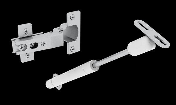3d model hinge furniture door hydraulic