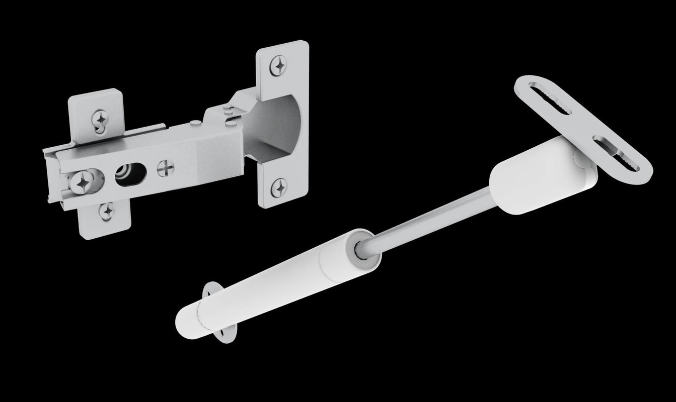 3d model hinge furniture door hydraulic