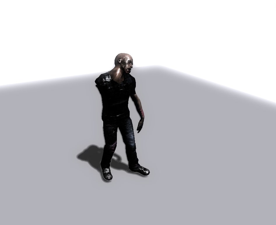 3d zombie rigged