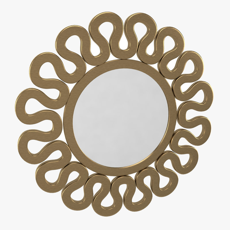 norfolk mirror wall 3d model