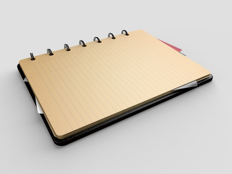 notebook note c4d