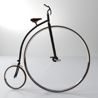x penny-farthing bicycle
