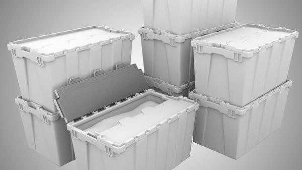 plastic container 3d model