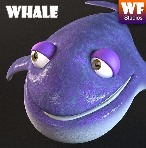 3dsmax cartoon whale