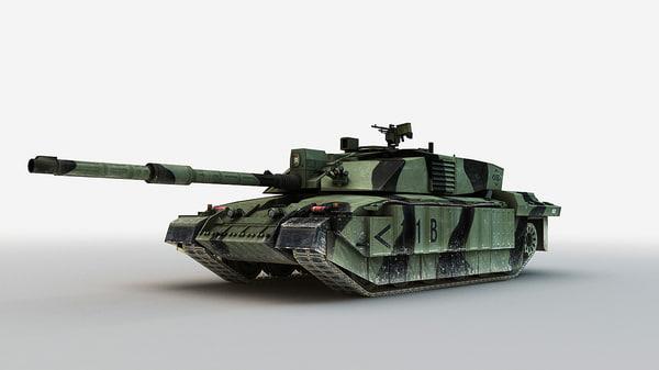 3d model main battle tank challenger 2