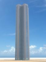 skyscraper nr 6 3d fbx