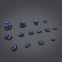 Low Poly Rock Set 01